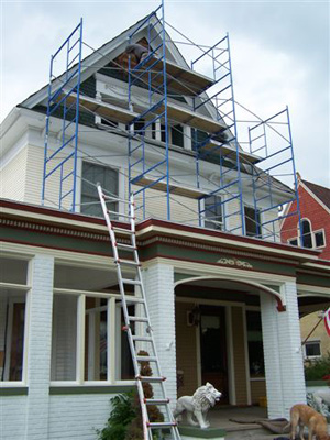 Gable During Restoration