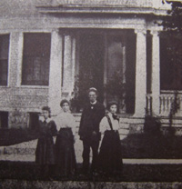 Porter Family in front of the 101 E. Pleasant Street Home