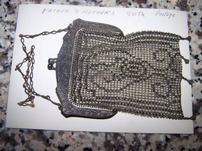 Whiting and Davis Silver Purse